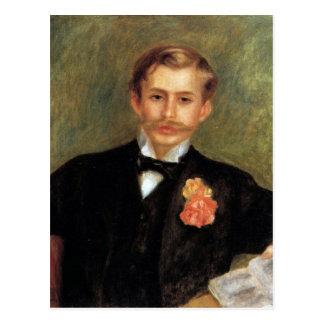 Portrait of Monsier Germaine by Pierre Renoir Postcard
