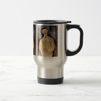 Portrait of Monsieur Lepoutre by Amedeo Modigliani Travel Mug