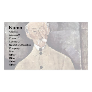 Portrait Of Monsieur Lepoutre By Modigliani Amedeo Business Card Templates