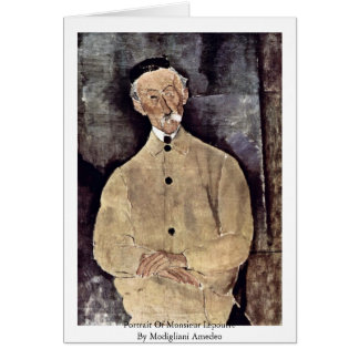 Portrait Of Monsieur Lepoutre By Modigliani Amedeo Card
