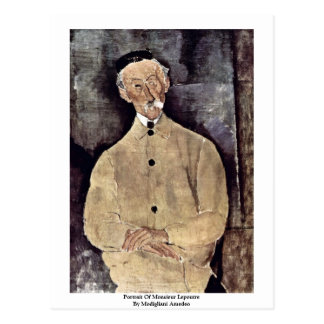 Portrait Of Monsieur Lepoutre By Modigliani Amedeo Post Card