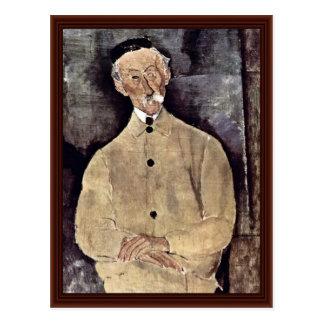 Portrait Of Monsieur Lepoutre By Modigliani Amedeo Postcard