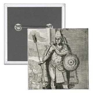 Portrait of Montezuma II Button