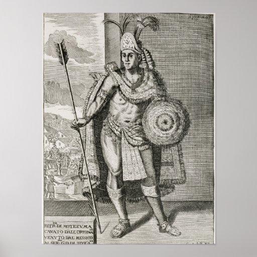 Portrait of Montezuma II Posters