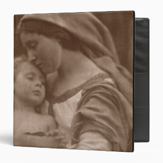 Portrait of mother and child (sepia photo) 3 ring binder