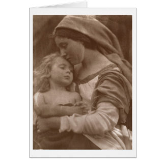 Portrait of mother and child (sepia photo) card