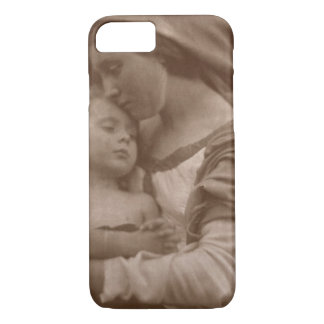 Portrait of mother and child (sepia photo) iPhone 8/7 case