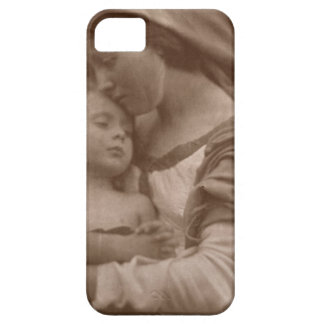 Portrait of mother and child (sepia photo) iPhone SE/5/5s case