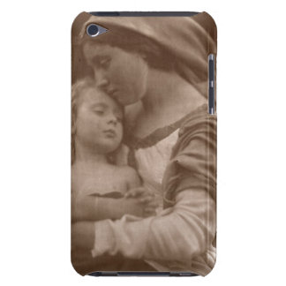 Portrait of mother and child (sepia photo) iPod Case-Mate case