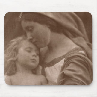 Portrait of mother and child (sepia photo) mouse pad