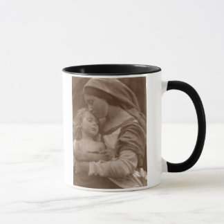 Portrait of mother and child (sepia photo) mug