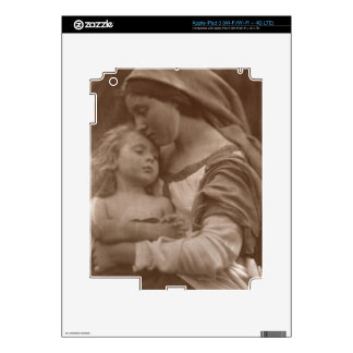 Portrait of mother and child (sepia photo) skins for iPad 3