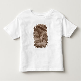 Portrait of mother and child (sepia photo) toddler t-shirt