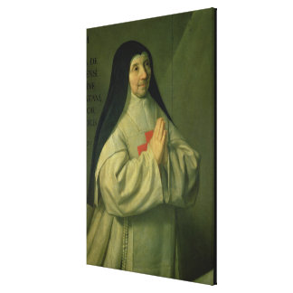 Portrait of Mother Catherine-Agnes Arnauld (1593-1 Gallery Wrap Canvas