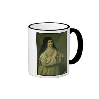 Portrait of Mother Catherine-Agnes Arnauld (1593-1 Ringer Mug