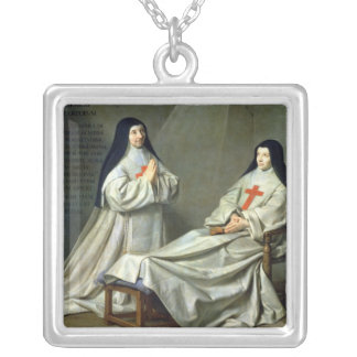 Portrait of Mother Catherine-Agnes Silver Plated Necklace