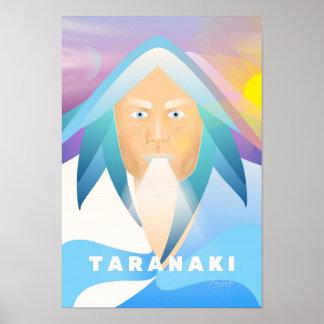 Portrait of Mount Taranaki by Manu Ander Poster