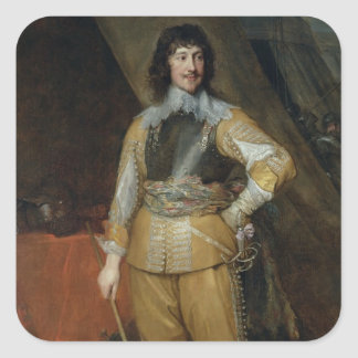 Portrait of Mountjoy Blount, Earl of Newport (c.15 Square Sticker