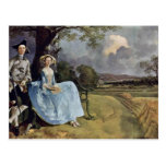 Portrait Of Mr. And Mrs. Andrews By Thomas Gainsbo Post Cards