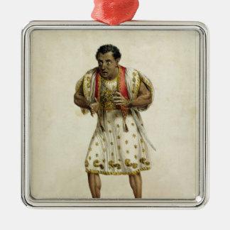 Portrait of Mr Edmund Kean  as Othello Metal Ornament
