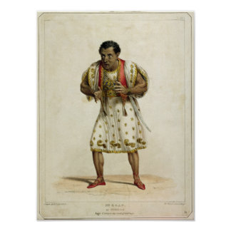 Portrait of Mr Edmund Kean  as Othello Print