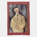 Portrait of Mr. Lepoutre by Amedeo Modigliani Towel
