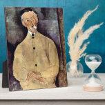 Portrait of Mr. Lepoutre by Amedeo Modigliani Plaque