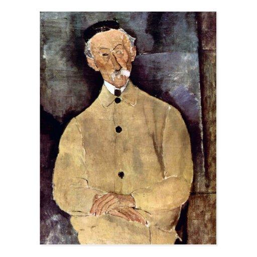 Portrait of Mr. Lepoutre by Amedeo Modigliani Postcards