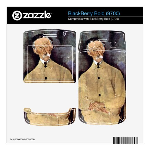 Portrait of Mr. Lepoutre by Amedeo Modigliani BlackBerry Decals