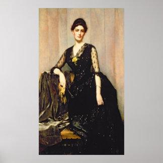 Portrait of Mrs. Agnes Williamson Poster