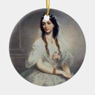 Portrait of Mrs C.W.Stoughton (d.1907), Three-quar Ceramic Ornament