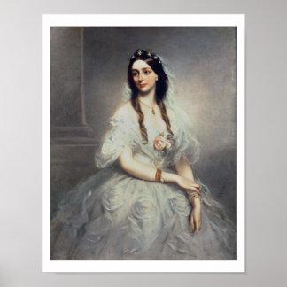 Portrait of Mrs C W Stoughton d 1907 Three-quar Poster