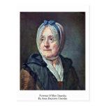 Portrait Of Mrs Chardin By Jean-Baptiste Chardin Postcard