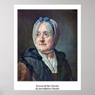 Portrait Of Mrs Chardin By Jean-Baptiste Chardin Print