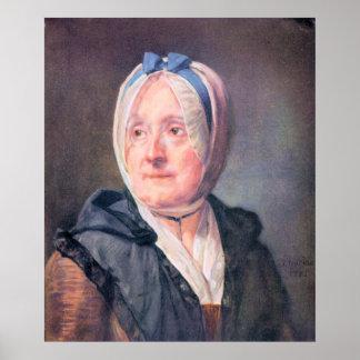 Portrait of Mrs Chardin by Jean Chardin Poster
