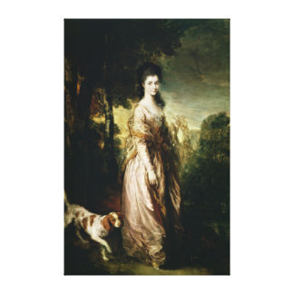 Portrait of Mrs. Lowndes-Stone  c.1775 Canvas Print