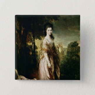 Portrait of Mrs. Lowndes-Stone  c.1775 Pinback Button