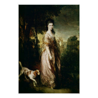Portrait of Mrs. Lowndes-Stone  c.1775 Poster