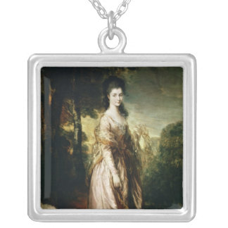 Portrait of Mrs. Lowndes-Stone  c.1775 Silver Plated Necklace