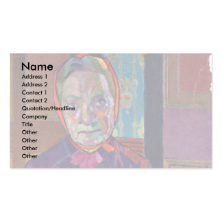 Portrait Of Mrs Mounter At The Breakfast Table Business Card Templates