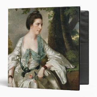 Portrait of Mrs Nicholas Ashton, nee Mary Warburto 3 Ring Binder