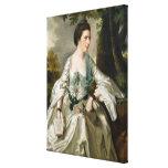 Portrait of Mrs Nicholas Ashton, nee Mary Warburto Canvas Print