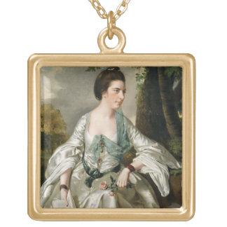 Portrait of Mrs Nicholas Ashton, nee Mary Warburto Gold Plated Necklace