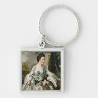 Portrait of Mrs Nicholas Ashton, nee Mary Warburto Keychain