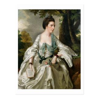 Portrait of Mrs Nicholas Ashton, nee Mary Warburto Postcard