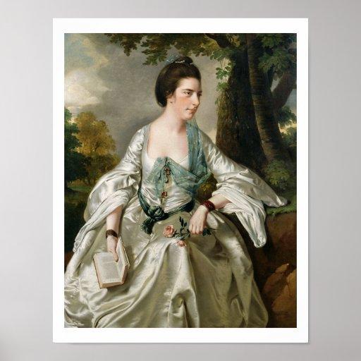 Portrait of Mrs Nicholas Ashton, nee Mary Warburto Poster