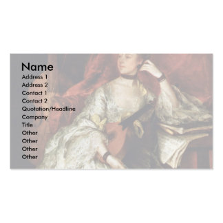 Portrait Of Mrs. Philip Thickness By Gainsborough Business Cards