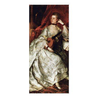 Portrait Of Mrs. Philip Thickness By Gainsborough Custom Rack Card