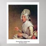 Portrait Of Mrs. Richard Yates By Gilbert Stuart Print