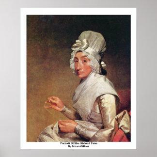 Portrait Of Mrs Richard Yates By Stuart Gilbert Posters